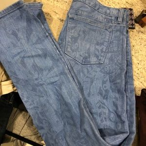 J. Crew Toothpick Floral Jeans